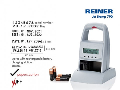 REINER jetStamp 790 Marking and Date Validity Printing Machine Innovative Fittings