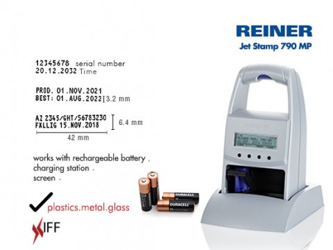 REINER jetStamp 790 MP Marking and Date Validity Printing Machine Innovative Fittings