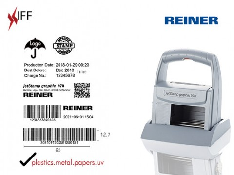 REINER jetStamp graphic 970 Marking and Date Validity Printing Machine Innovative Fittings