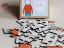 بزل مربعة الشكل 25 قطعة للطباعة الحرارية باستخدام المكبس - التجهيزات المبتكرة