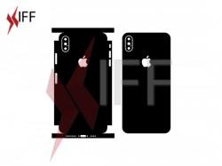 تصميم أستيكر حماية خلفى لأيفون اكس اس ماكس