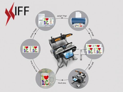 KM2 ماكينة الطباعة الحرارية على الأكواب