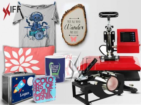 K2 heatpress printing machine on mugs and T-shirts - Innovative Fittings