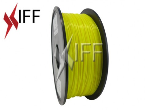 مادة PLA: أصفر شبه شفاف: ١.٧٥مم