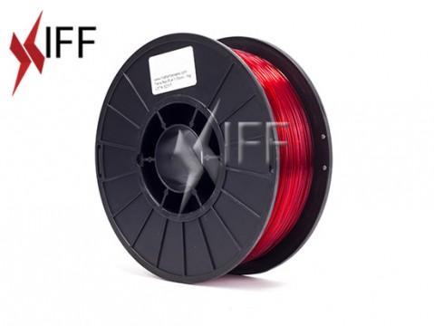 مادة PLA: أحمر شبه شفاف: ١.٧٥مم
