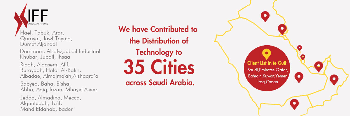 Served Cities by Innovative Fittings in Saudi Arabia