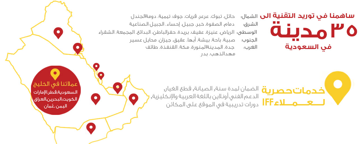 التجهيزات المبتكرة تنشر التقنية في مختلف مدن المملكة العربية السعودية