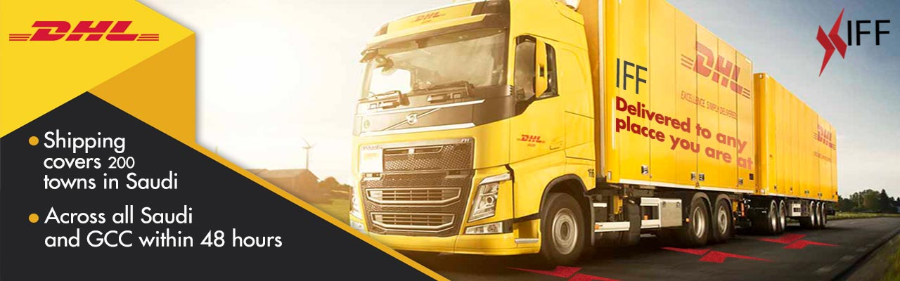 Shipping with DHL to all Saudi Arabia Cities and Gulf Countries